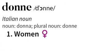 donne substantivo